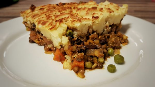Vegan Lentil and Aduki Bean Cottage Pie