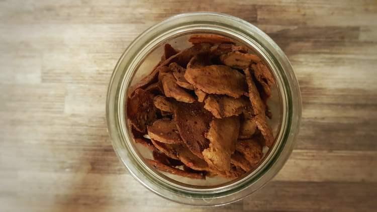 Vegan seitan jerky