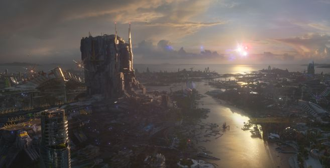 Marvel's Guardians Of The Galaxy..Xandar..Ph: Film Frame..©Marvel 2014