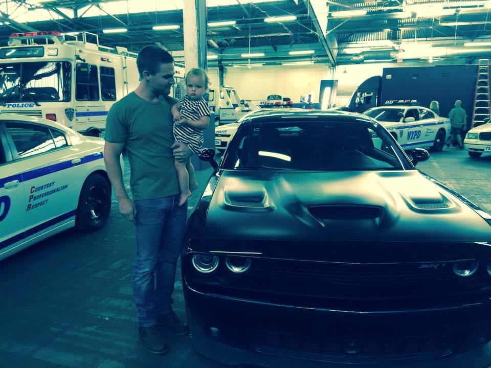 Stephen Amell shows off Casey Jones' car from 'Teenage