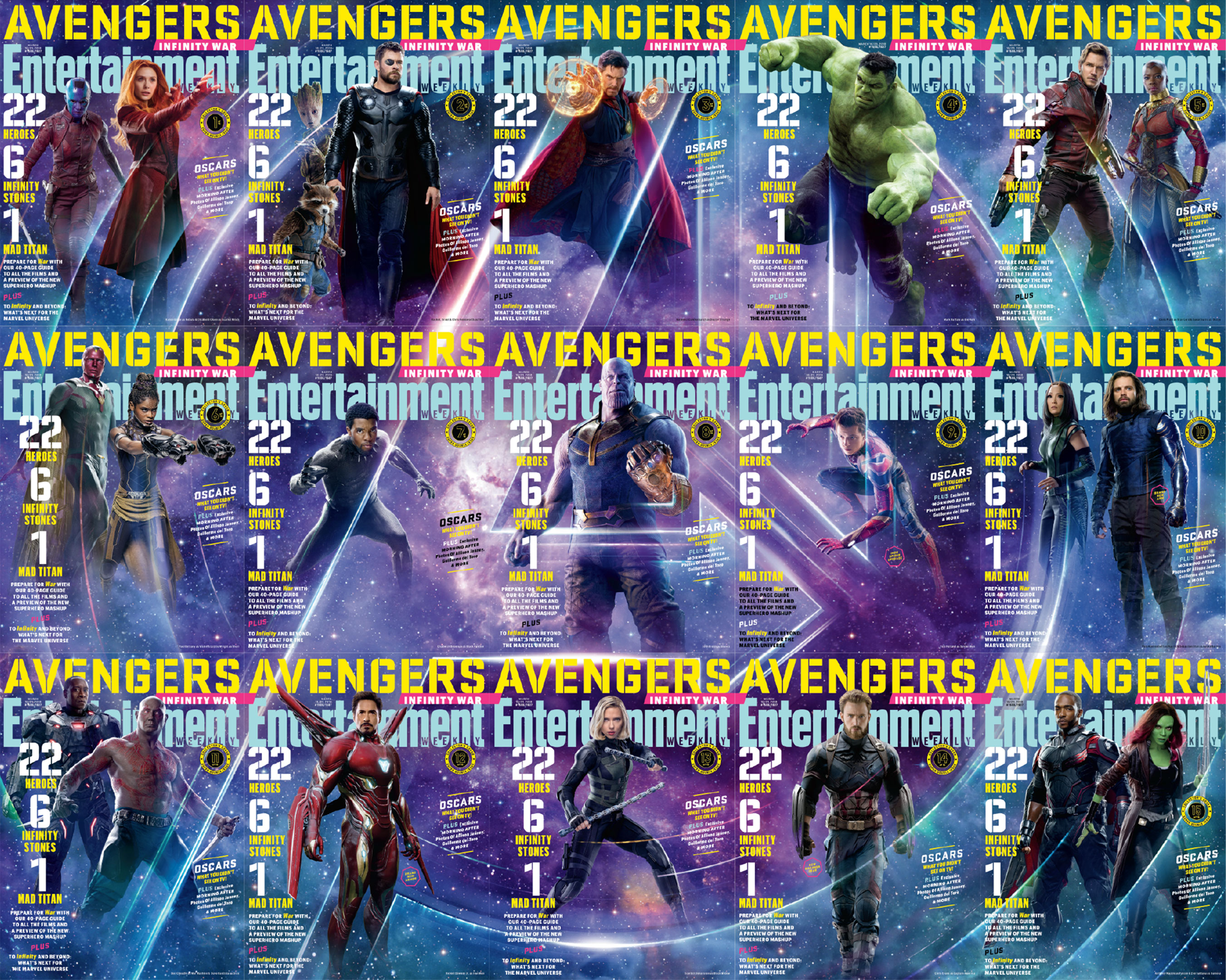 avengers infinity war entertainment weekly ile ilgili görsel sonucu