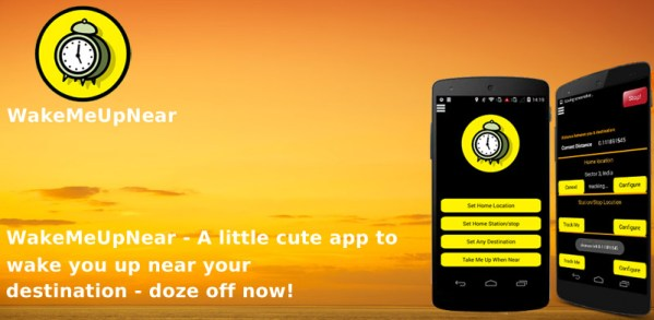 WakeMeUpNear – A little cute app to wake you up near your destination