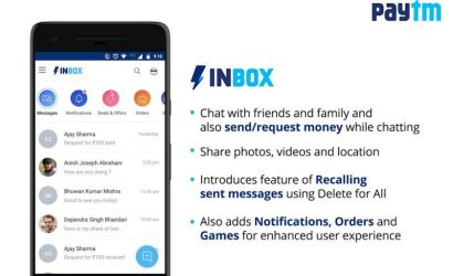 Paytm Launches 'Inbox', a Full-Fledged Chat Platform That Preempts WhatsApp's Payments Entry