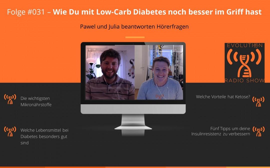 Evolution Radio Show Folge #031: Wie Du mit Low-Carb Dein Diabetes noch besser im Griff hast