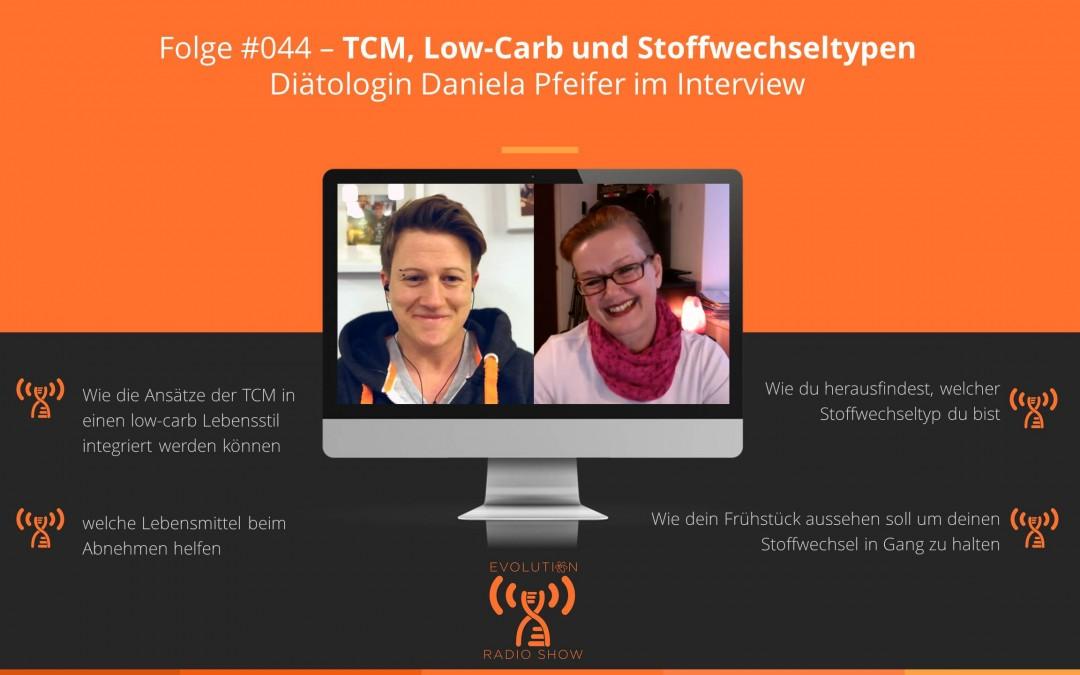 Evolution Radio Show Folge #044: TCM, Low-Carb und Stoffwechseltypen - Diätologin Daniela Pfeifer im Interview