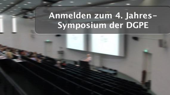 Anmelden zum 4. Jahres-Symposium der DGPE (01.10.2016 in Frankfurt am Main)