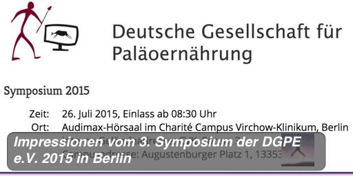 Impressionen vom 3. Symposium der DGPE e.V. 2015 in Berlin