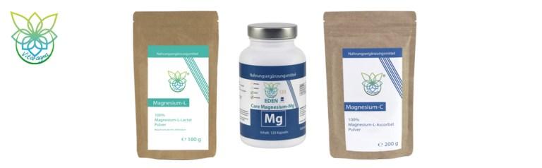 Empfehlungen für hochwertige Magnesium Pulver und Magnesium Kapseln