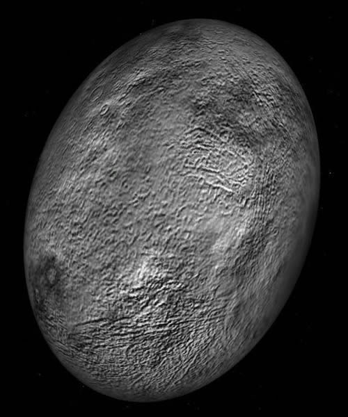 Cüce gezegen Haumea (çizim)