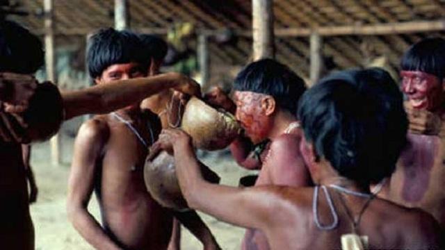 Bir amazon kabilesi olan Yanomamö'lüler ise ölülerini yaktıktan sonra küllerini bir sıvıyla karıştırıp içiyorlar, ve böyle yapınca ölülerinin ruhunun kendilerinin içinde hayat bulduğuna inanıyorlar.