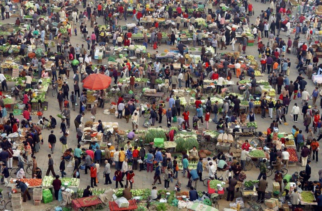Pekin'de pazar yeri
