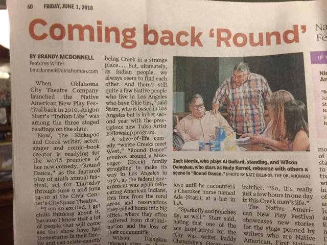 Round Dance in the Oklahoman Newspaper