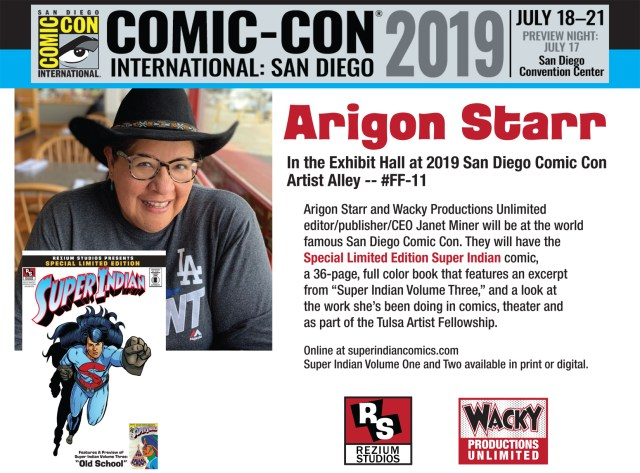 Flyer for SDCC 2019