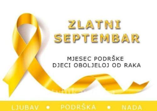 """""""Zlatni septembar"""" u Zenici i Tuzli: Mjesec podizanja svijesti o djeci oboljeloj od raka"""