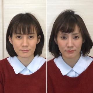 顔タイプ診断 骨格診断 ビフォーアフター 顔分析メイク パーソナルカラー診断 顔タイプクール メイクレッスン
