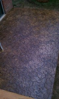 Colored Stamped concrete 5
