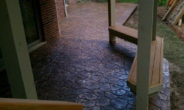 Colored Stamped concrete