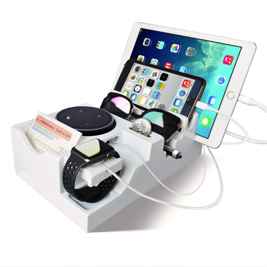 Superior Digital News - Giftgarden Multiple Devices Apple Watch, iPhone, iPad, AirPod, Amazon Echo Dot, Sunglasses, and More Charging Cradle
