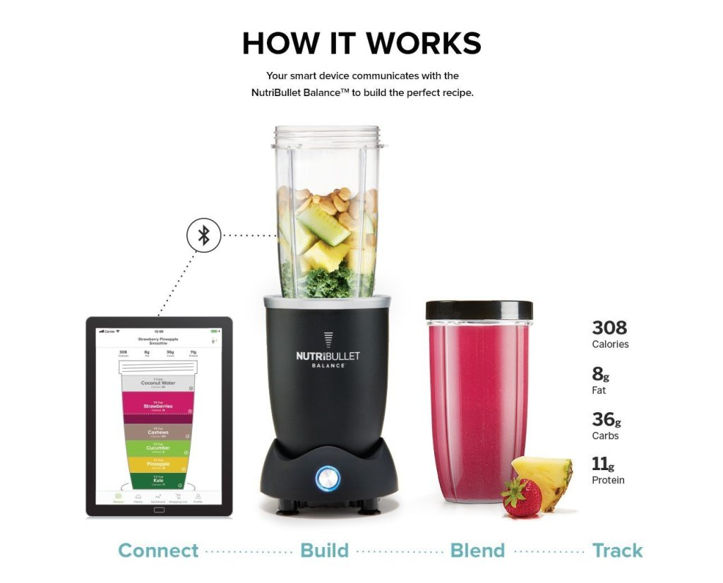 Superior Digital News - NutriBullet Balance Bluetooth Enabled Smart Blender Recipe Suggestions and Automatic Nutritional Tracking