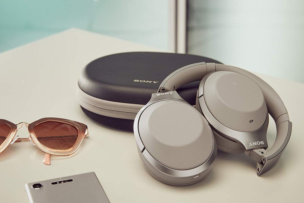 Superior Digital News - Sony Noise Cancelling Headphones WH1000XM2 - Over Ear Wireless Bluetooth Headphones with Microphone - Gold Folding