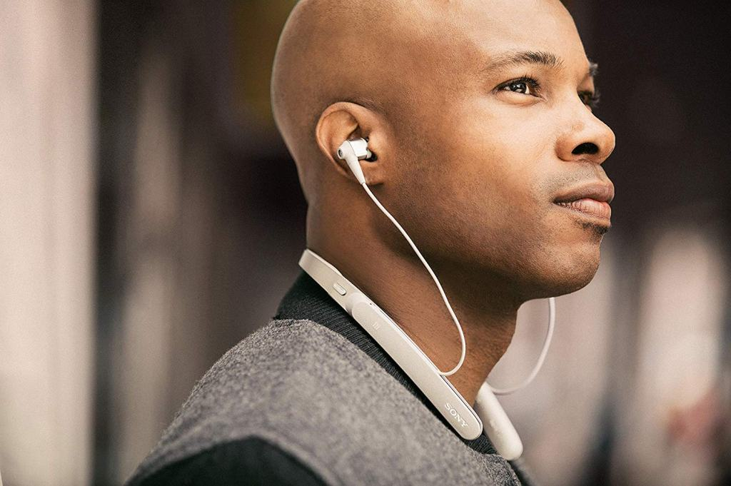 Superior Digital News - Sony Premium Noise Cancelling Wireless Behind-Neck In-Ear Headphones Premium Look and Feel