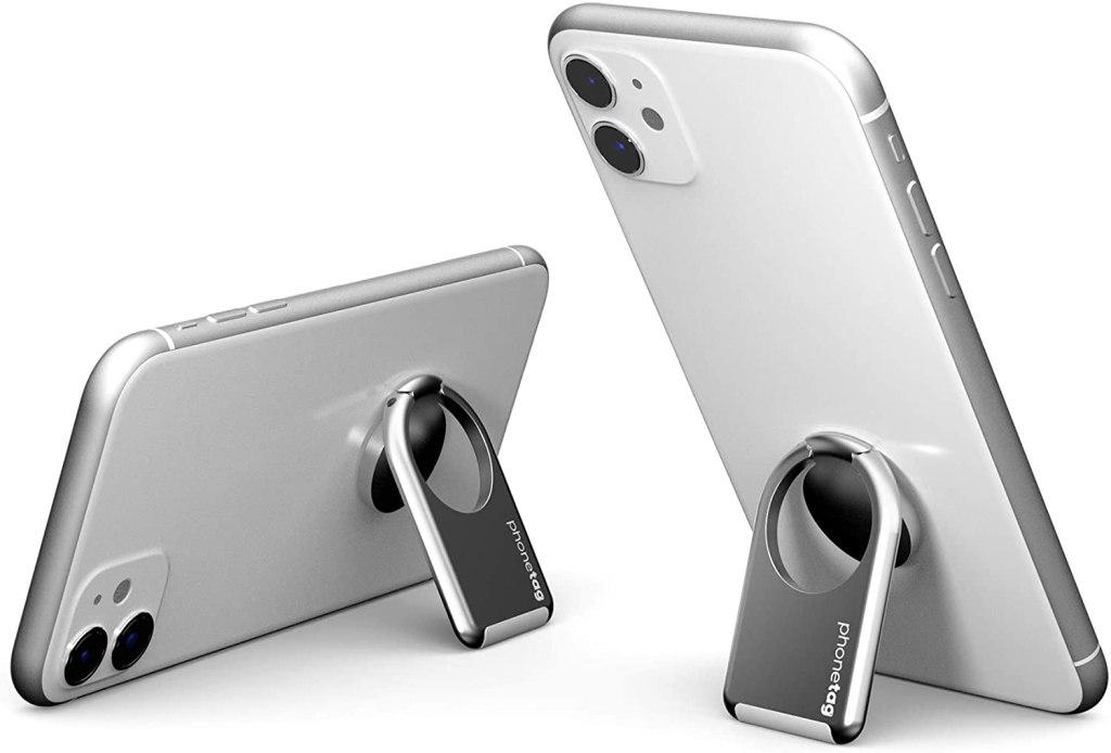 phonetag - Finger Ring Phone Holder - Silver