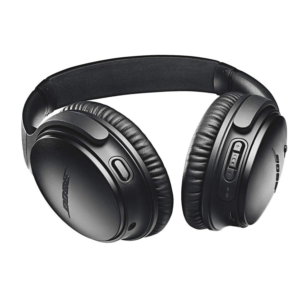 Bose QuietComfort 35 (Series II) Wireless Headphones - Control buttons and Ports