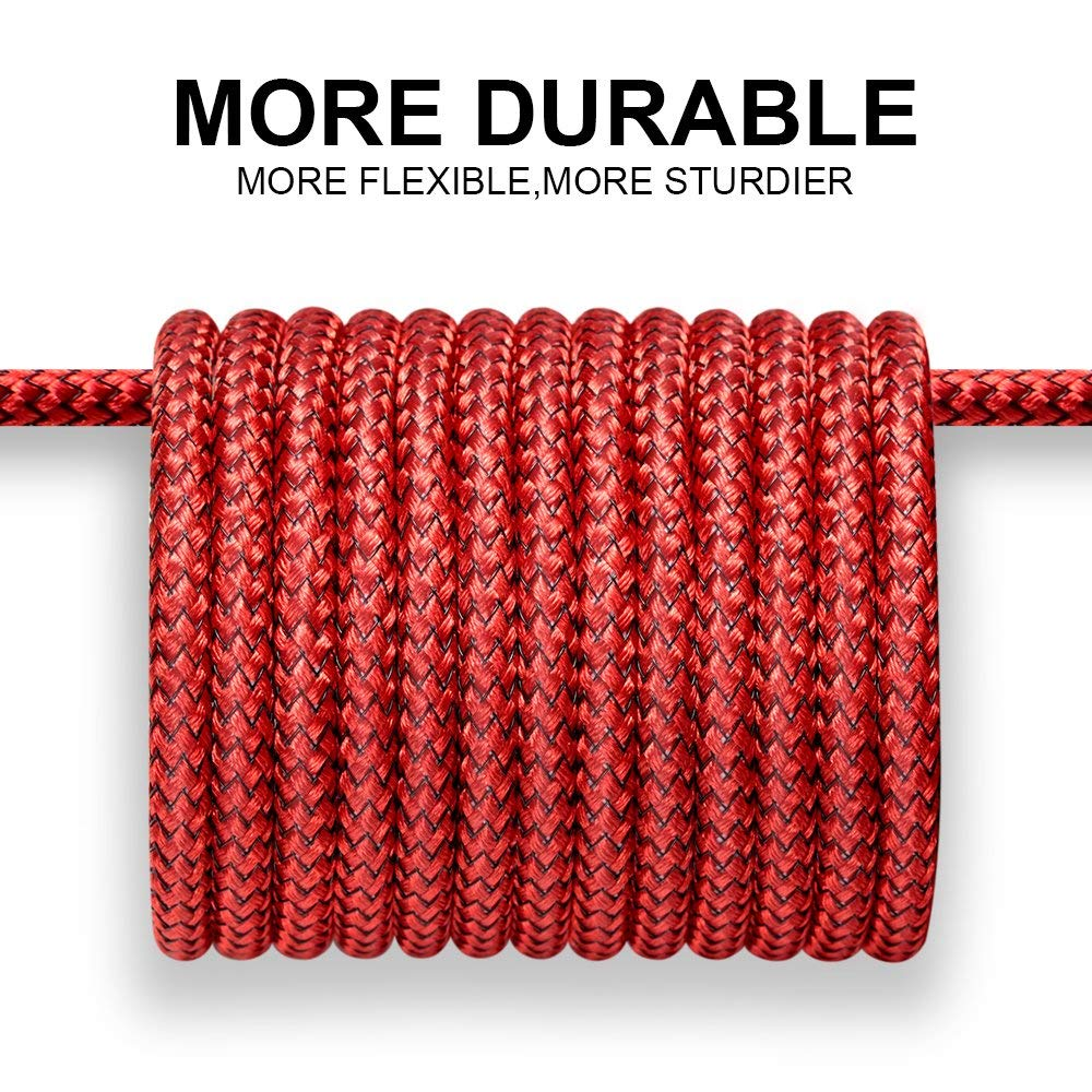 Superior Digital News - JSAUX USB-C Cable - 2-Pack - 6.6 Foot - Durable Nylon Coating