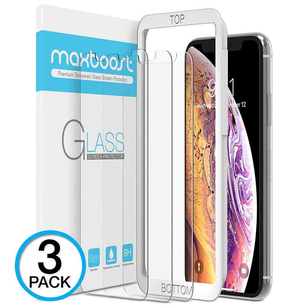Superior Digital News - Maxboost Tempered Glass for iPhone XS Max - 3-Pack Bundle