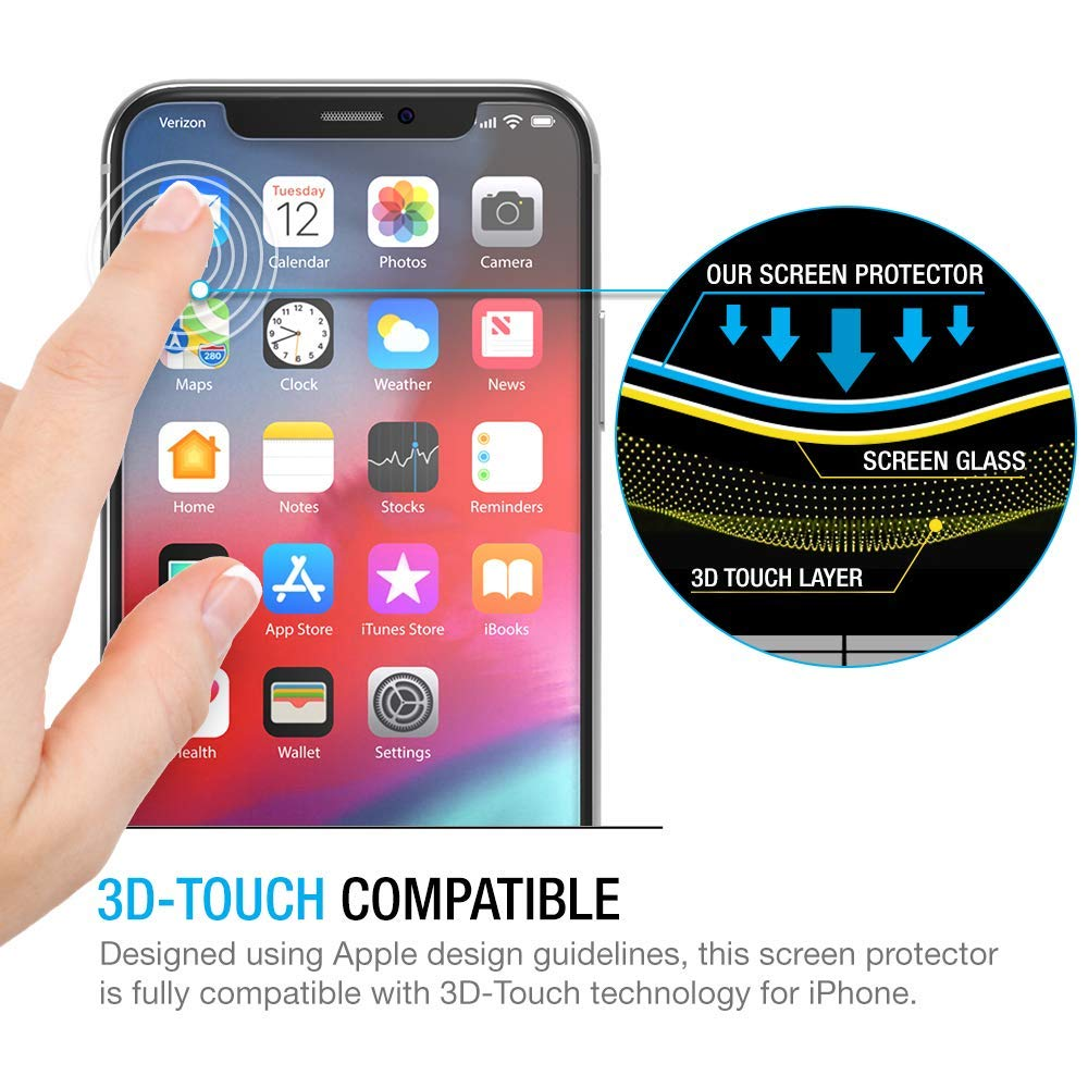 Superior Digital News - Maxboost Tempered Glass for iPhone XS Max - 3D Touch Compatible