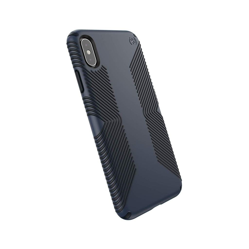 Superior Digital News - Speck Presidio Grip iPhone XS Max Case - Black-Midnight Blue - Back