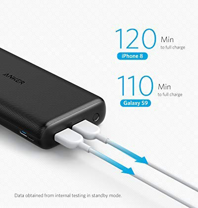 Superior Digital News - Anker PowerCore 20,000mAh Portable Charger - Ultra-High Capacity - 4.8A Output - Dual Fast Charging for iPhone & Android -