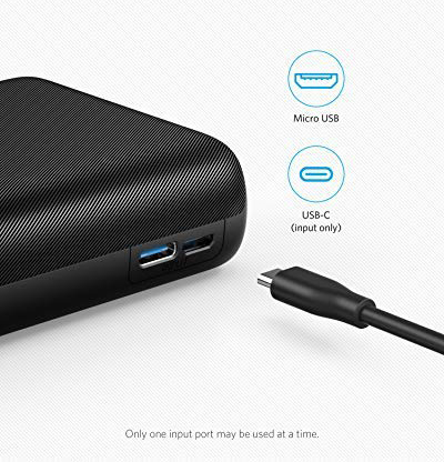 Superior Digital News - Anker PowerCore 20,000mAh Portable Charger - Ultra-High Capacity - 4.8A Output - Dual Input (Micro USB & USB Type-C) -
