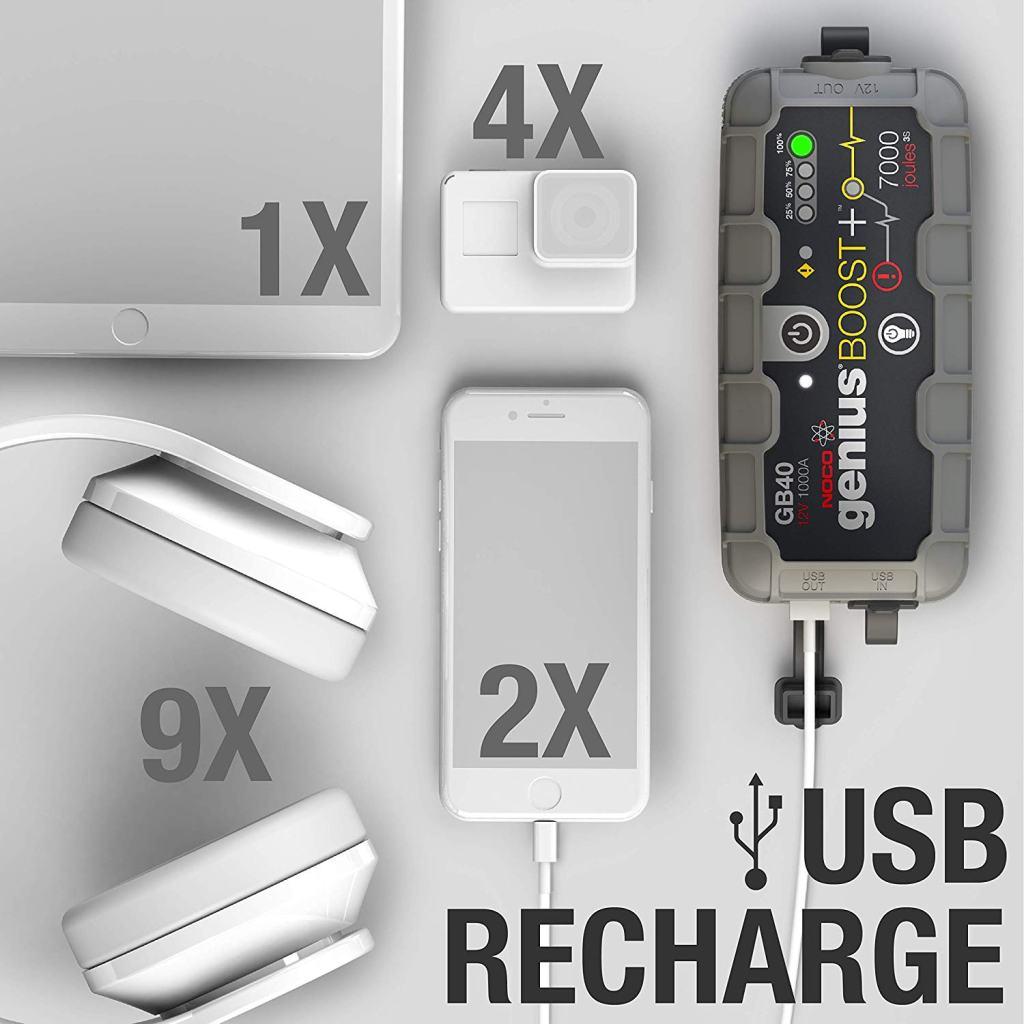 Superior Digital News - NOCO Genius Boost Plus GB40 1,000 Amp 12V UltraSafe Lithium Jump Starter - USB Mobile Charger
