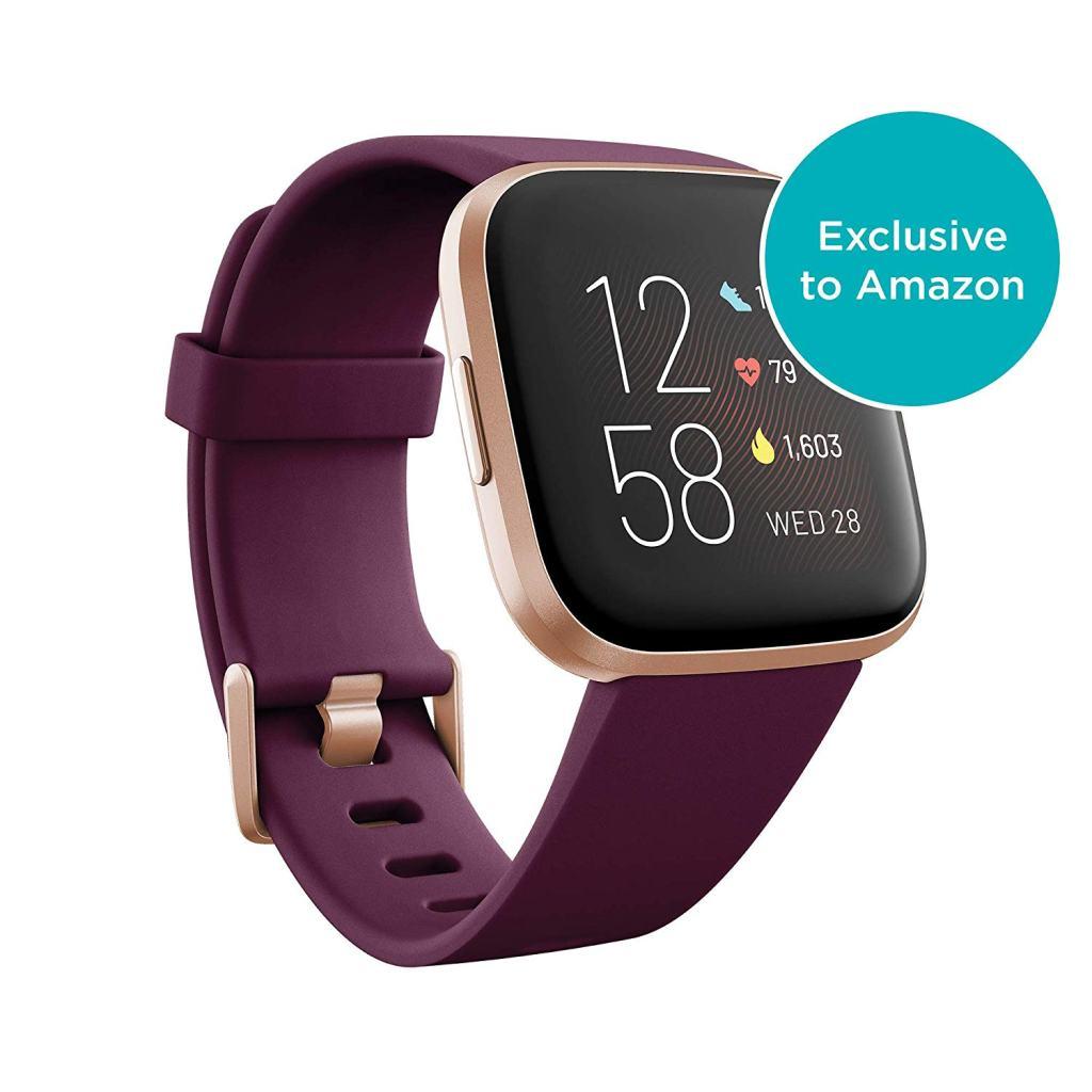 Fitbit Versa 2 - Bordeaux and Copper-Rose - Amazon.com Exclusive