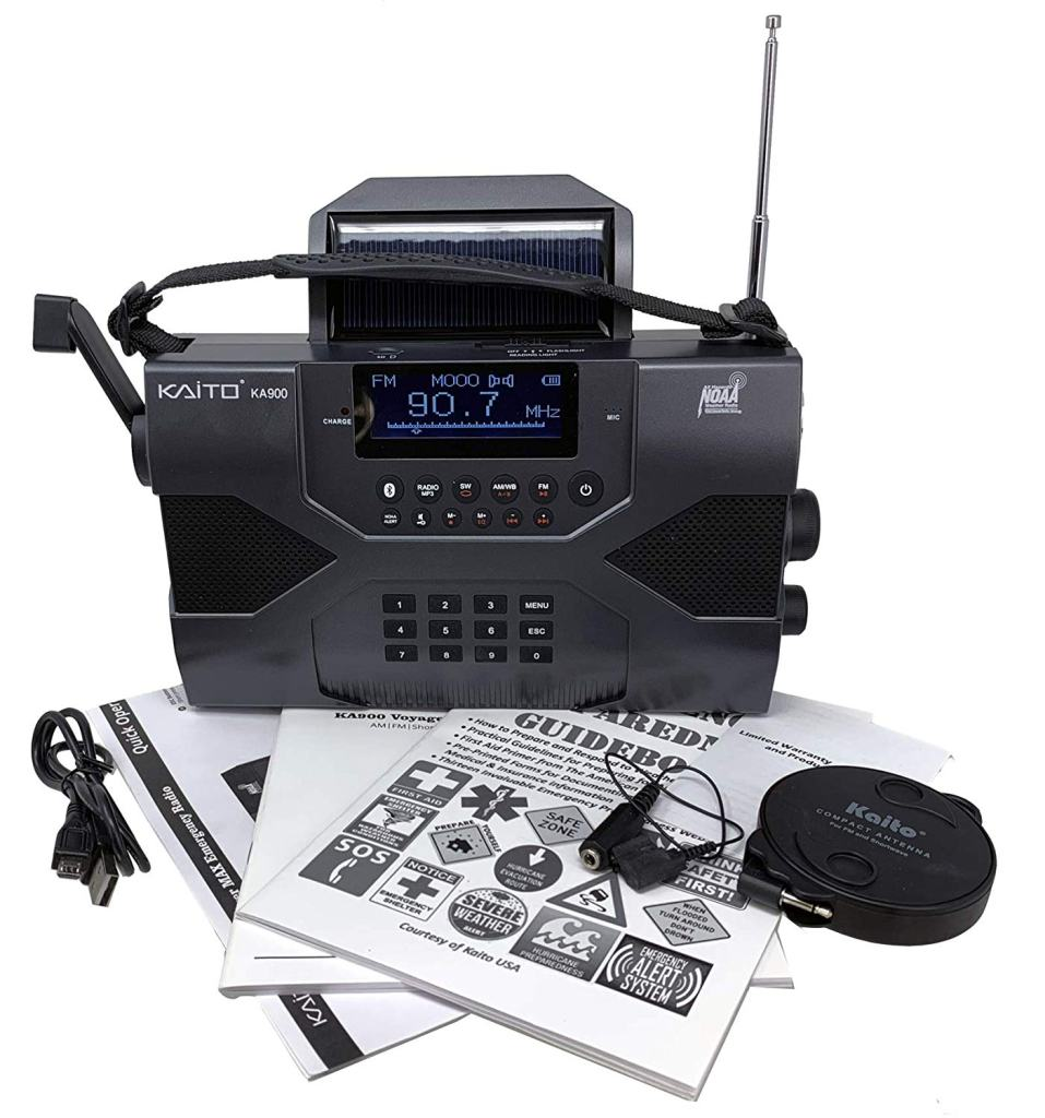 Kaito Voyager Max KA900 Emergency Weather Radio Kit