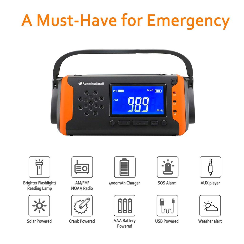 RunningSnail NOAA Emergency Weather Radio with Digital Tuner