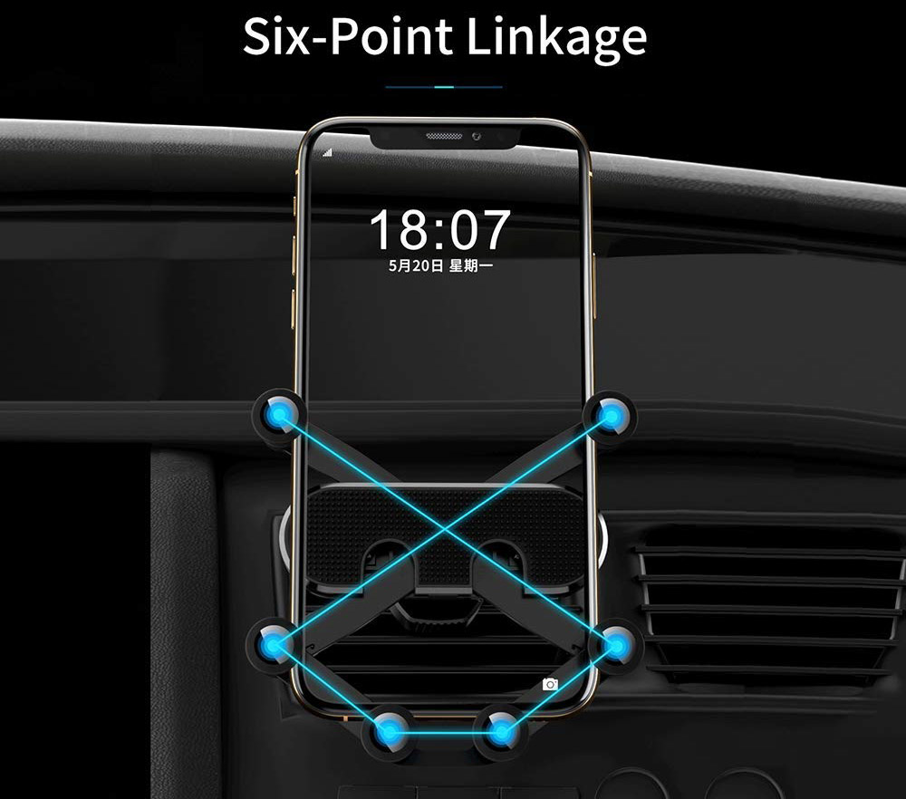 AMAYGA Vent Car Phone Gravity Mount - 6-Point Grip
