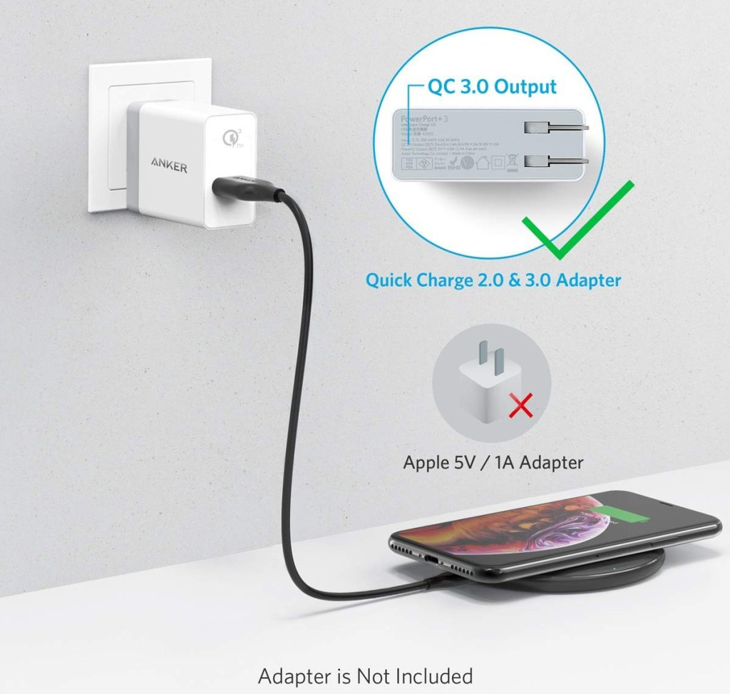 Anker Wireless Charger - Wall Adapter Options