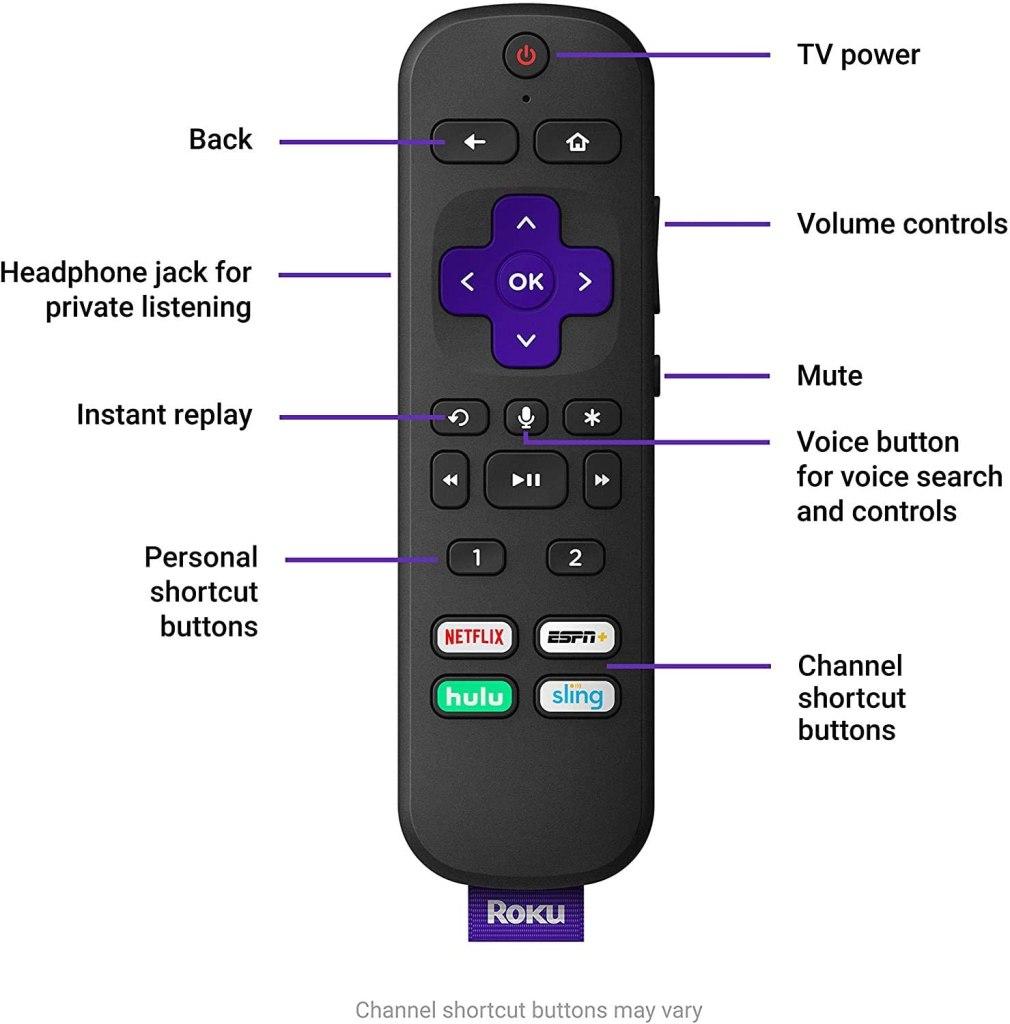 Roku Ultra Streaming Media Player Remote