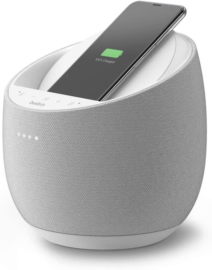 Belkin Soundform Elite Bluetooth Speaker and Wireless Charger - White