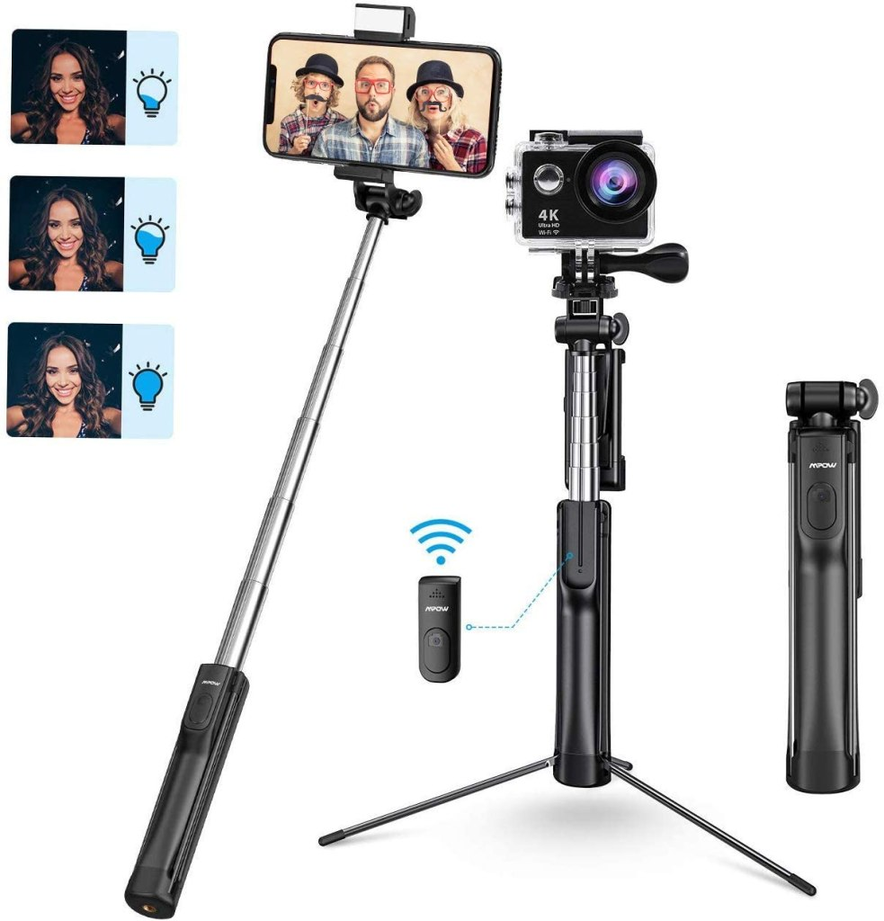 Best Tech Gifts Under $20 | MPOW Selfie Stick and Tripod