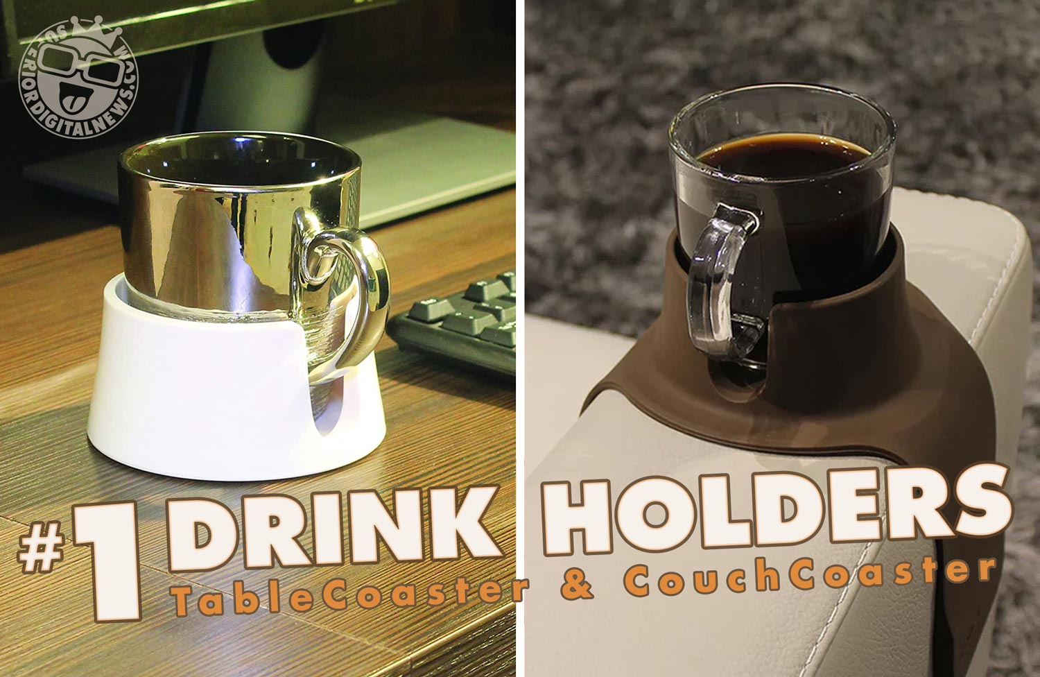 TableCoaster and CouchCoaster | #1 Anti-Spill Drink Holders
