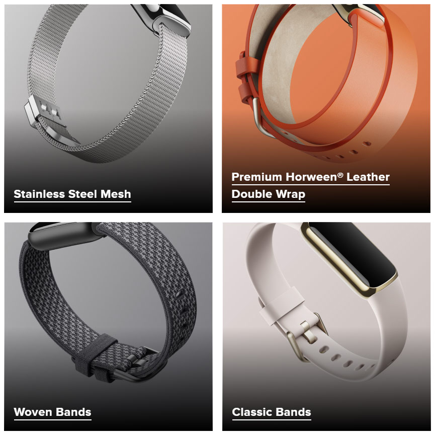 Fitbit Luxe Replacement Band Options