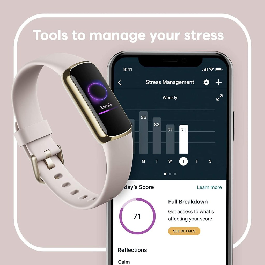 Fitbit Luxe Best Luxury Fitness Tracker Stress Management