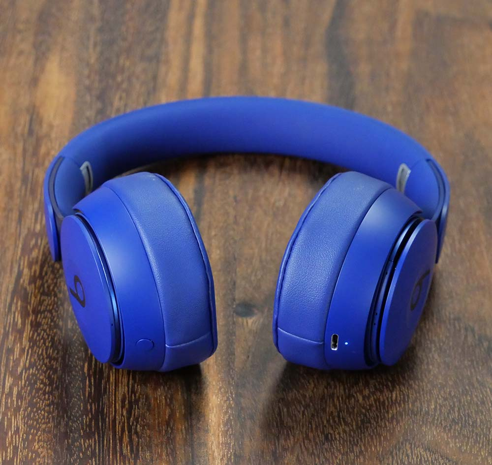 Beats Solo Pro Bluetooth Wireless Headphones - ANC Button and Charge Port