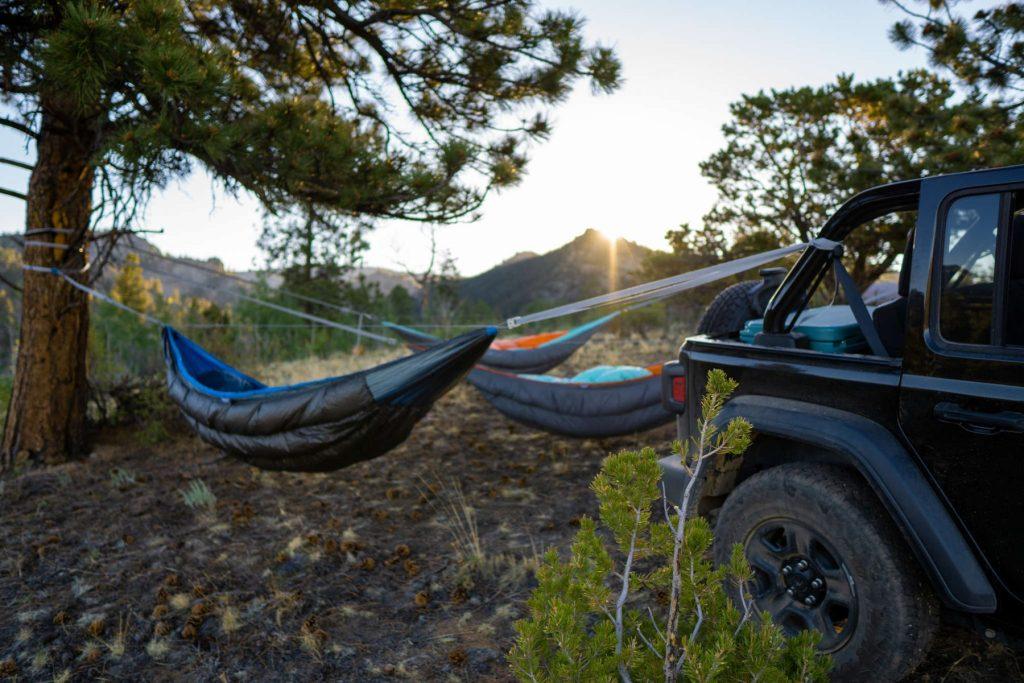 Jeep Hammock Camping near Buena Vista, Colorado