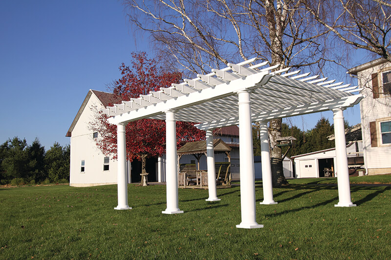Durable Vinyl Pergolas Superior Plastic Products