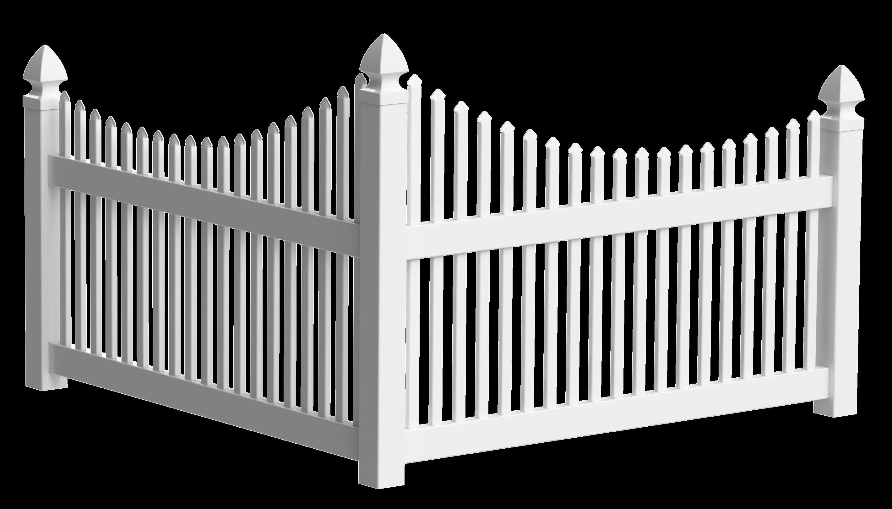 Accent Corner Vinyl Fences