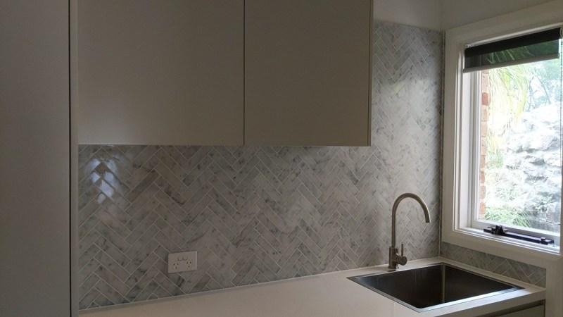 Kitchen Renovation Splashback Tiling